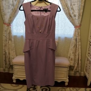 Lavender dress with matching cardigan